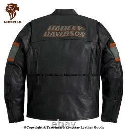 Lionstar Harley Davidson HD1 Motorbike Motorcycle Real Leather Jacket