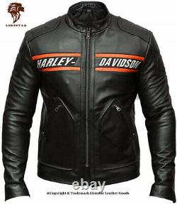 Lionstar Harley Davidson Motorbike Motorcycle Real Leather Jacket