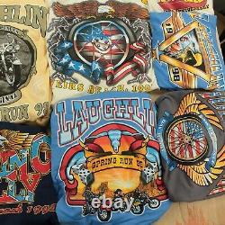 Lot 26 vintage t-shirts harley davidson biker 90s wholesale reseller bundle usa