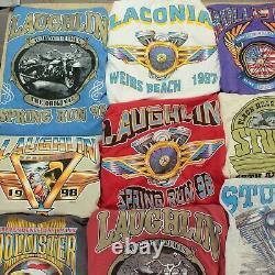 Lot 28 vintage t-shirts harley davidson biker 90s wholesale reseller bundle usa