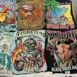 Lot 30 vintage t-shirts harley davidson biker 90s wholesale reseller bundle usa