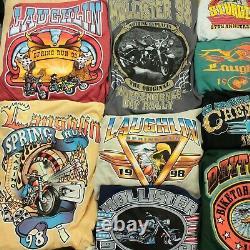 Lot 31 vintage t-shirts harley davidson biker 90s wholesale reseller bundle usa