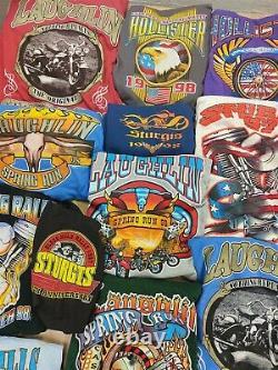 Lot 32 vintage t-shirts harley davidson biker 90s wholesale reseller bundle usa