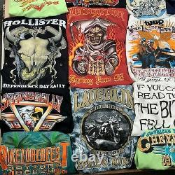 Lot 35 vintage t-shirts biker rally 90s wholesale reseller bundle usa harley