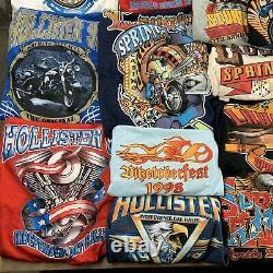 Lot 37 vintage t-shirts biker rally 90s wholesale reseller usa harley davidson