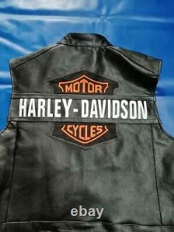 MENS Leather Vest For Harley Davidson Passing LinkMen's Biker & Motorcycle Vest