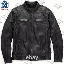 Men Dauntless Convertible Harley Davidson Motorcycle Biker Real Leather Jacket
