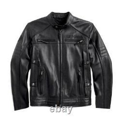 Men Genuine Cowhide HD Harley Davidson Motorcycle Biker Real Leather Jacket