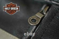 Men Harley Davidson Victory Lane Motorcycle Biker Cafe Racer Real Leather Jacket