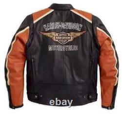 Men Premium Motorcycle Leather Jacket For Harley Bike Lovers