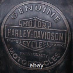 Men's Dauntless Convertible Harley Davidson Motorcycle Biker Real Leather Jacket