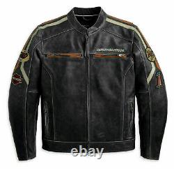 Men's HD Harley Classic Retro Vintage Biker Distressed Cowhide Leather Jacket