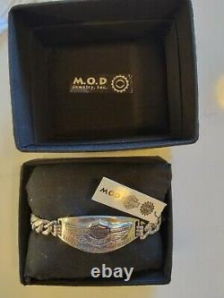 Men's Harley-Davidson MOD 100th year Anniversary Sterling Silver + 10K Bracelet