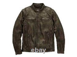 Mens Harley Davidson Dauntless Convertible 2 in 1 Genuine Leather biker's Jacket