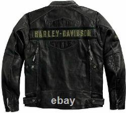 Mens Harley Davidson New Vintage Biker Distressed Real Leather Motorcycle Jacket