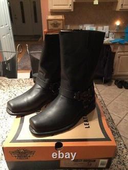 Mens Harley Davidson Rare Eagle Harness Leather Boots Size 12 NiB