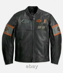 Mens Harley Davidson Screaming Eagle Motorcycle Motorbike Cowhide Leather Jacket