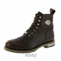Mens Harley Davidson Willard Riding Biker Leather Zip-Up Boots Sizes 7 10 11 12
