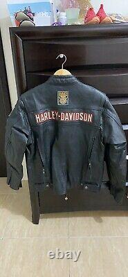 Mens harley davidson leather jacket medium