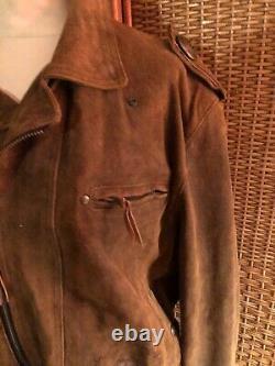 Mens harley davidson leather motorcycle jacket xl