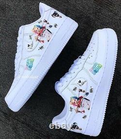 Mens harley quinn Custom Nike Air Force 1 One Size 6 7 8 9 10 11 12 trainers