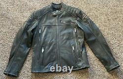 NEW Men's Harley Davidson Midway reflective leather jacket Medium $499 retail