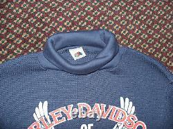 NWOT VTG 70s 80s Harley Davidson New Jersey Eagle Thermal Shirt 3D Emblem USA S