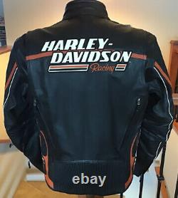 NWT HARLEY DAVIDSON Men's L Full Armor RACEWAY Screamin Eagle Leather Jacket