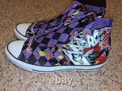 New Converse DC Harley Quinn Purple Chuck Taylor Hi RARE Joker Mens 11