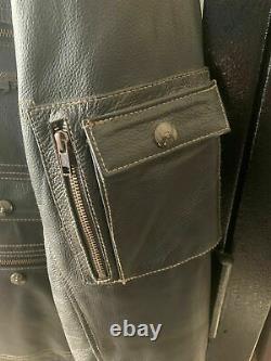 New Harley Davidson Men's Leather Heavy Duty Lined Riding Jacket Medium/large