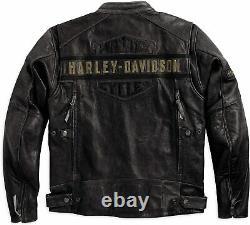 New Men Harley Davidson Motorcycle Vintage Biker Distressed Real Leather Jacket