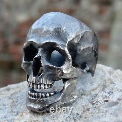 New Skull Ring Sterling Silver 925 Amazing Men Masonic Biker Harley Handmade
