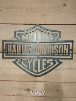 Premium Harley Davidson Metal Sign Hand Finished Man Cave Motor Cycle bike