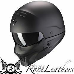 Scorpion Combat Evo Matt Black Harley Pilot Badass Motorcycle Cruiser Helmet