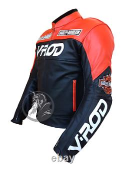 VROD Motorbike Biker Harley Davidson Racing CE Armor Customized Leather Jacket