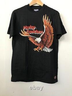 VTG 80's HARLEY DAVIDSON logo t shirt NOS Deadstock 1988 Eagle Rare Tee Biker
