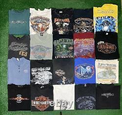 Vintage Harley Davidson Biker T Shirt Lot Of 24 New Era 80s 90s 2000s