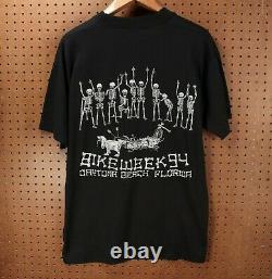 Vtg 1994 Daytona Bike Week t-shirt XL single stitch harley davidson 90s usa