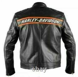 WWE Bill Goldberg Harley Davidson Motorcycle Vintage Biker Black Leather Jacket