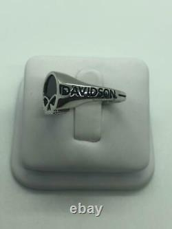 Willie G Harley Davidson Skull Men's Ring in Sterling Silver HDR0471