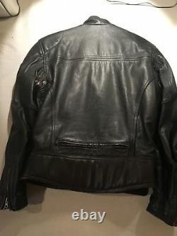 Women's Leather Harley Davidson Jacket Vintage Retro Embroidered